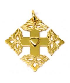 Croix-Megève ciselée -coeur de Savoie -joly-Pottuz