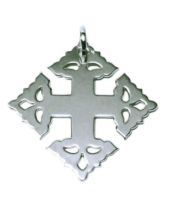 Croix de Megève lisse or blanc 750 JOLY-POTTUZ Megève