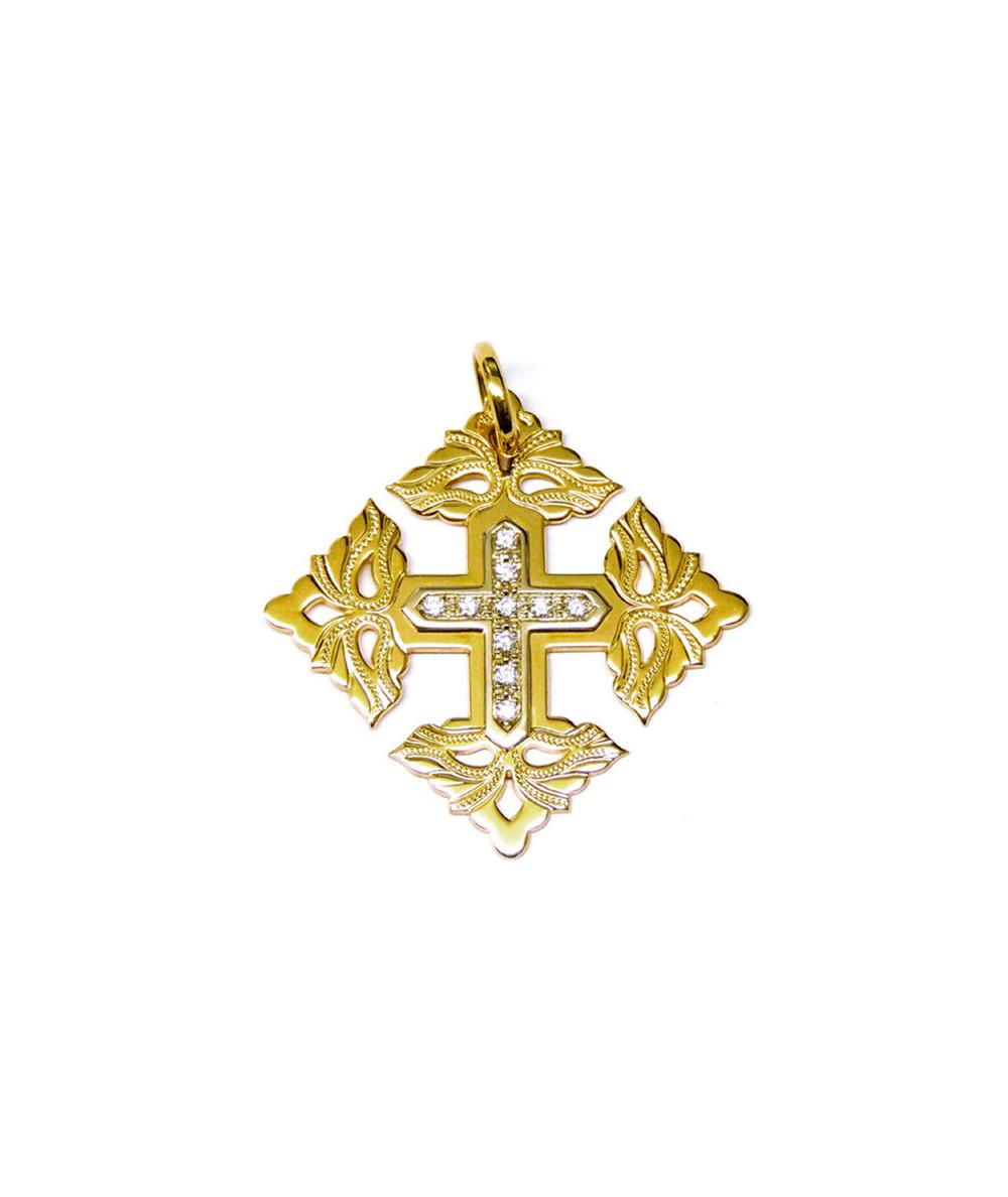 Croix -Megève-Royale-Diamant-Or
