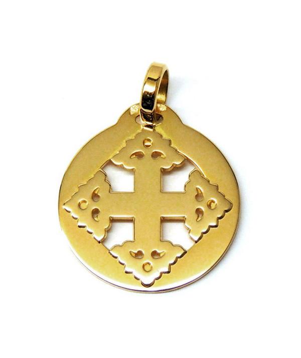 Croix-Megève-Médaille- or jaune 750