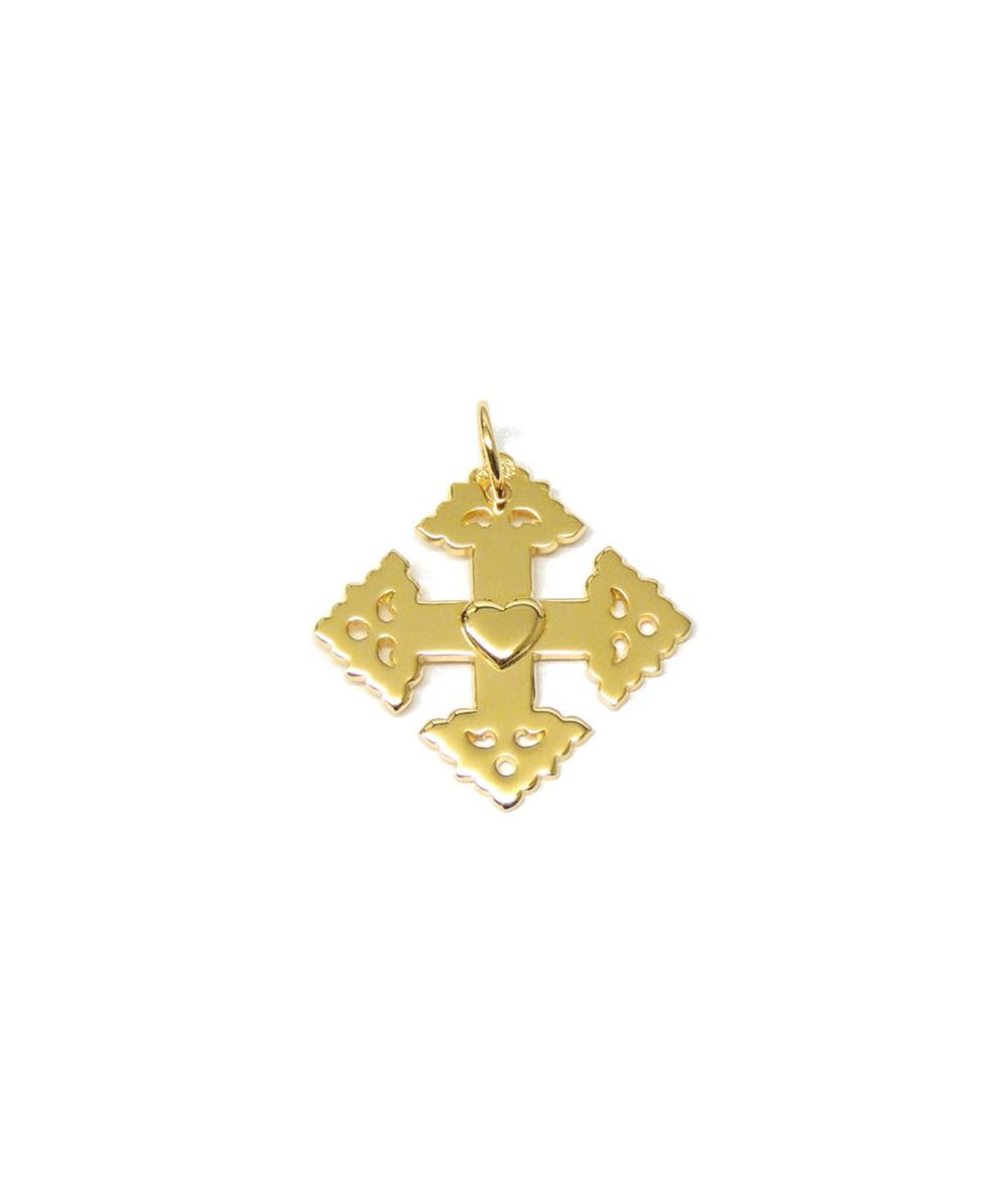 Croix de Megève coeur 2cm joly-pottuz