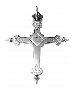 Croix de Savoie argent Joly-pottuz bijoutier Megève  6cm