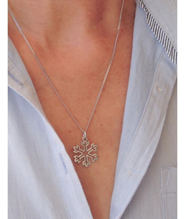 pendentif Cristal de neige en or ou argentJoly-pottuz Megève