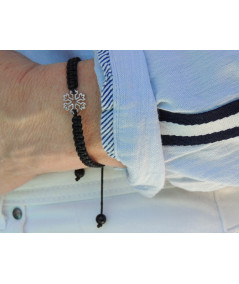 BRACELET CRISTAL de Neige  sur cordon tressé bijouxmegeve