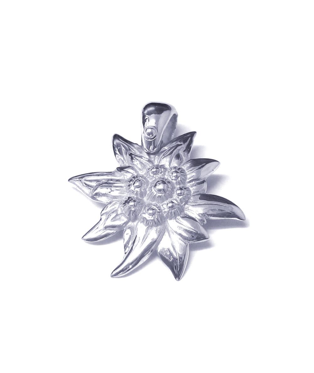 Pendentif edelweiss moulé grande fleur oly-pottuz Megève
