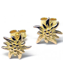 Boucles d'oreilles Edelweiss or jaune 1.5cm Joly-Pottuz Megeve Bijoux megeve