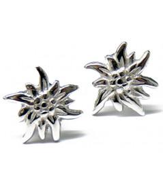 Boucles d'oreilles Edelweiss 1cm  Argent 925