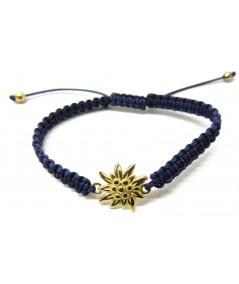 Bracelet cordon Edelweiss or jaune Joly-pottuz Megève