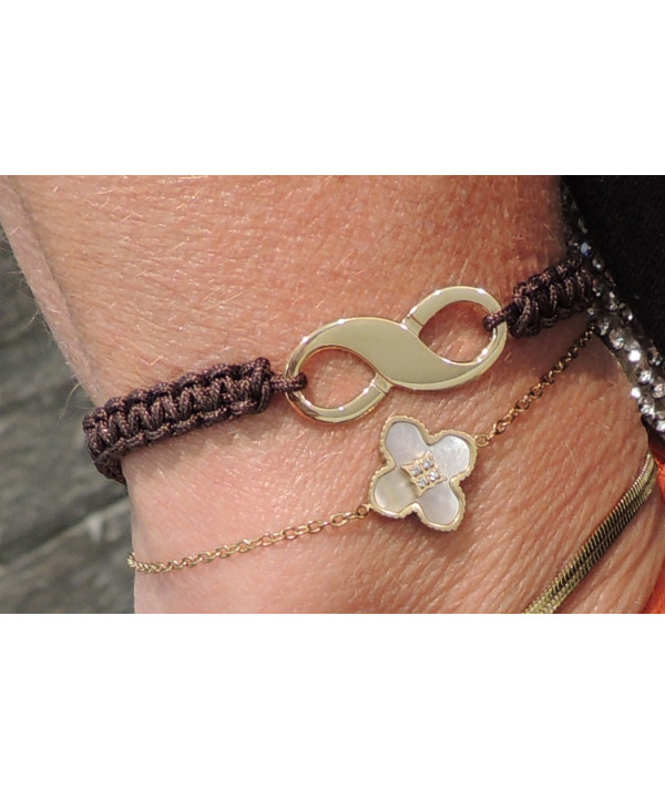 Bracelet Signe de L'Infini or 750 BIJOUTERIE JOLY-POTTUZ MEGEVE