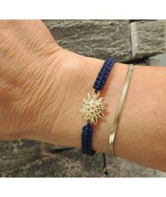 bracelet Edelweiss cordon rouge bijouterie JOLY-POTTUZ Megève