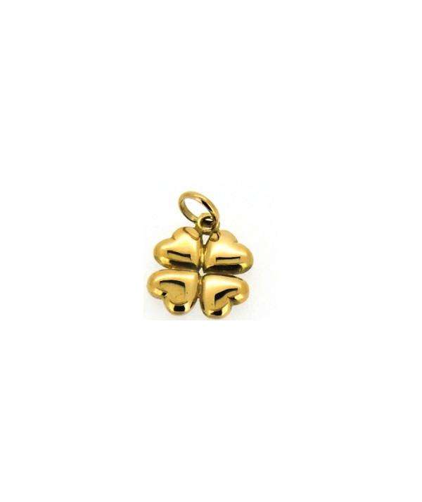 pendentif trèfle en or bijouterie Joly-pottuz Megève