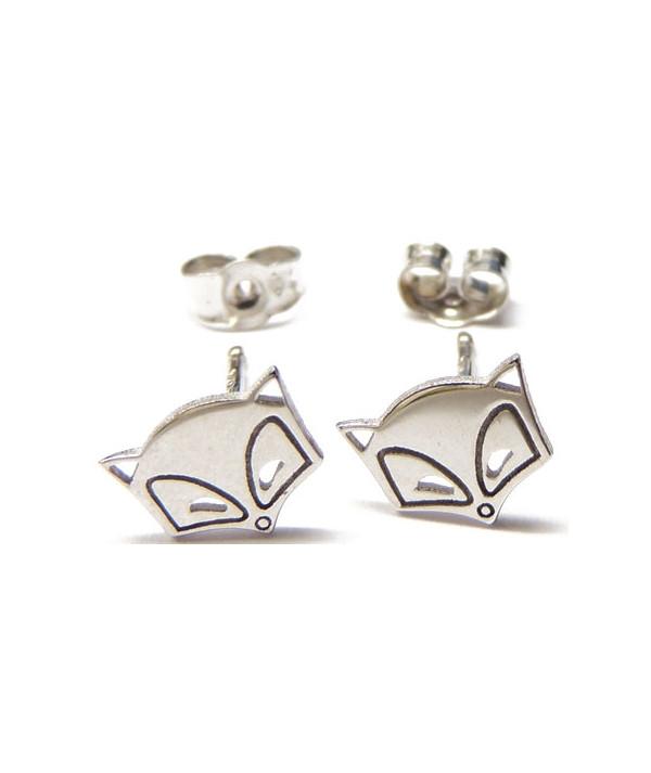 boucles d'oreilles renard or blanc 750  -bijouterie joly-pottuz Megève